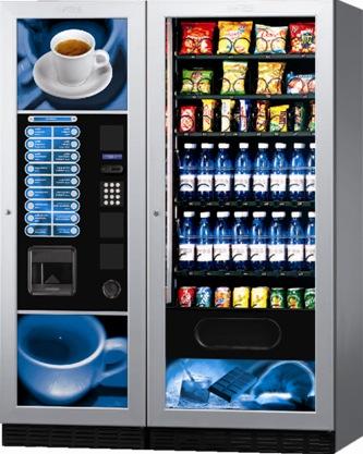 Linie vending cu 2 automate: Fashion+Fast 750FV